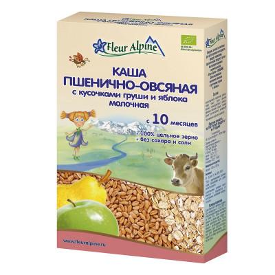 Каша органическая Fleur Alpine Пшенично-овсяная с грушей и яблоком 200 г 1184018 ТМ: Fleur Alpine