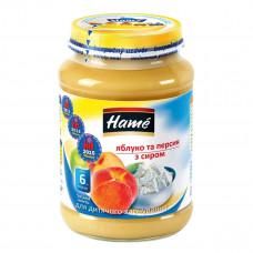Пюре фруктовое Hame Яблоко Персик Творог 190 г 23601041760101 ТМ: Hame