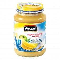 Пюре фруктовое Hame Яблоко Банан Творог 190 г 23601101708101 ТМ: Hame