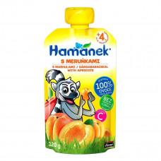 Пюре фруктовое Hamanek Яблоко Абрикос 120 г 26520061760083 ТМ: Hamanek