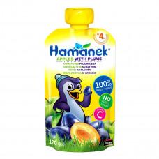 Пюре фруктовое Hamanek Яблоко Слива 120 г 26520161757083 ТМ: Hamanek