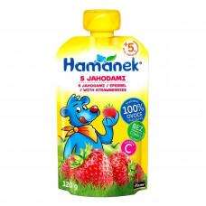 Пюре фруктовое Hamanek Яблоко Клубника 120 г 26520001760083 ТМ: Hamanek