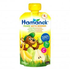 Пюре фруктовое Hamanek Груша Банан 120 г 26520801757083 ТМ: Hamanek
