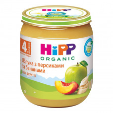 Пюре органическое фруктовое HiPP Яблоко Банан Персик 125 г 4283 ТМ: HiPP