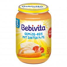 Пюре Bebivita Овощи Рис Индейка 220 г 1044 ТМ: Bebivita