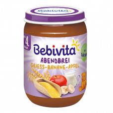 Пюре Bebivita Молочная каша Яблоко Банан 190 г 1080 ТМ: Bebivita