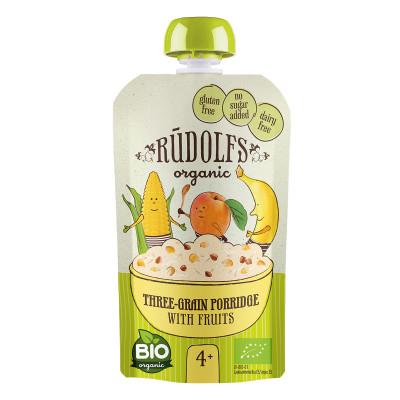 Каша органическая Rudolfs многозерновая безмолочная с фруктами 110 г  ТМ: Rudolfs