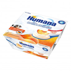 Продукт кисломолочный с персиком и пребиотиками, 400 г. 701121 ТМ: Humana