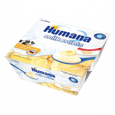 Продукт кисломолочный с бананом и пребиотиками, 400 г. 701091 ТМ: Humana