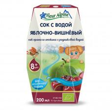 Сок органический Fleur Alpine Яблоко-Вишня с природной водой 200 мл  ТМ: Fleur Alpine