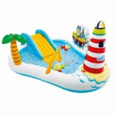 Детский надувной бассейн Intex 57162 Веселая рыбалка, белый с голубым (21230)
