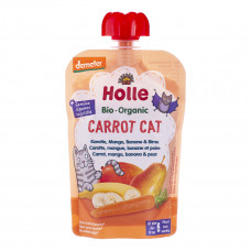 Пюре органическое Holle Carrot Cat Морковь Манго Банан Груша 100 г 45321 ТМ: Holle