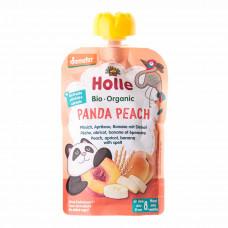 Пюре органическое Holle Panda Peach Персик Банан Абрикос Спельта 100 г 45304 ТМ: Holle