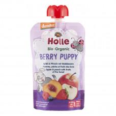 Пюре органическое Holle Berry Puppy Яблоко Персик Лесные ягоды 100 г 45317 ТМ: Holle
