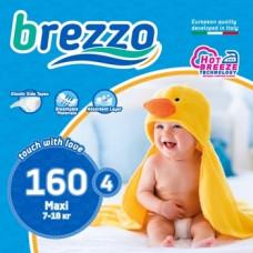 Набор подгузников Brezzo 4 (7-18 кг), 160 шт. (5 уп. по 32 шт.)