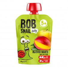 Пюре Улитка Боб Яблоко-манго 90 г  ТМ: Bob Snail