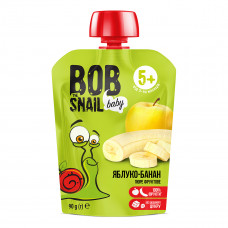 Пюре Улитка Боб Яблоко-банан 90 г  ТМ: Bob Snail