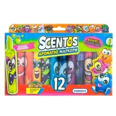 Набор ароматных маркеров для рисования Scentos Штрих, 12 цветов (40641)