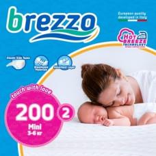 Набор подгузников Brezzo 2 (3-6 кг), 200 шт. (5 уп. по 40 шт.)