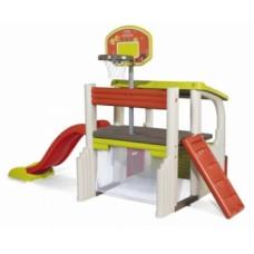 Игровой комплекс Smoby Развлечения с баскетбольной корзиной, футбольными воротами, горкой (840203)