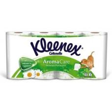 Трехслойная туалетная бумага Kleenex с ароматом ромашки, 8 рулонов