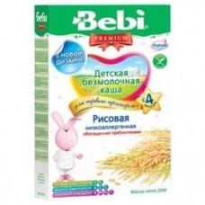 Безмолочная низкоаллергенная каша Bebi Premium рисовая с пребиотиками, 200 г