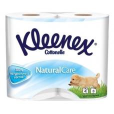 Трехслойная туалетная бумага Kleenex Premium Naturalcare, 4 рулона