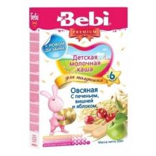Молочная каша для полдника Bebi овсяная Печенье с вишней и яблоком, 200 г