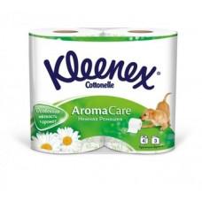 Трехслойная туалетная бумага Kleenex, 4 рулона