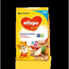 Молочная каша Milupa сухая быстрорастворимая мультизлаковая с сухариками и грушей, 210 г