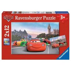 Пазл 2 в 1 Ravensburger Молния МакКуин и его друзья, 24 элемента