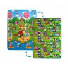 Детский двусторонний коврик Limpopo СолнечныйденьиЦветные циферки,120х180см (LP003-120)