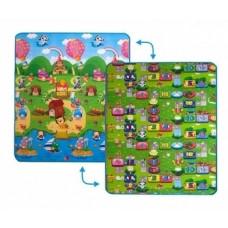 Детский двусторонний коврик Limpopo Солнечный день и Цветные циферки,150х180см (LP003-150)