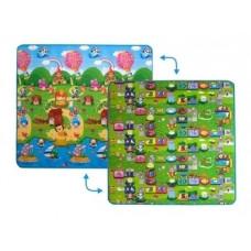 Детский двусторонний коврик Limpopo Солнечный день и Цветные циферки,200х180см (LP003-200)