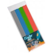 Набор стержней для 3D-ручки 3Doodler Start Микс, 24 шт., серый, голубой, зеленый, красный