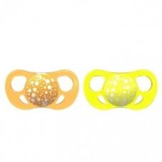 Пустышка Twistshake 6+, оранжевый и желтый, 2 шт. (78090)