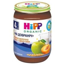Молочная органическая каша HIPP манная с фруктами Спокойной ночи, 190 г