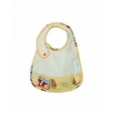 Слюнявчик с кармашком ЭКО ПУПС Premium, молочный (СЛ2м)