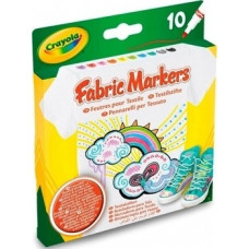 Набор фломастеров Crayola для рисования по ткани, 10 шт. (58-8633)