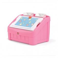 Комод для игрушек и поверхность для творчества Step 2 Box & Art, розовый (848800)