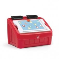 Комод для игрушек и поверхность для творчества Step 2 Box & Art, красный (848900)
