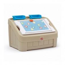 Комод для игрушек и поверхность для творчества Step 2 Box & Art, бежевый (845500)