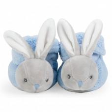 Пинетки Kaloo Plume Кролик, полиэстер, 10 см, голубой (K969572)