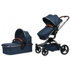 Универсальная коляска 2 в 1 Miqilong V Baby, темно-синий (X159-09)