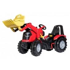 Педальный трактор Rolly Toys Rolly X-Trac Premium, красный с желтым (651016)