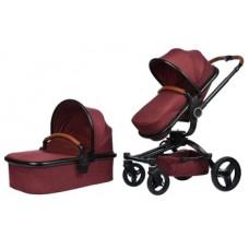 Универсальная коляска 2 в 1 Miqilong V Baby, бордовый (X159-05)