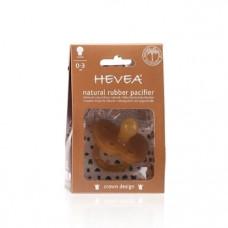Каучуковая круглая пустышка Hevea Crown, 0-3 мес. (HEVCROWN0-3)