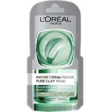 Маска L'Oréal Paris Skin Expert Магия Глины с натуральной глиной и эвкалиптом, для всех типов кожи, 6 мл
