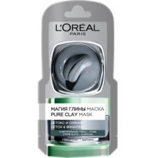 Маска L'Oréal Paris Skin Expert Магия Глины с натуральной глиной и углем, для всех типов кожи, 6 мл