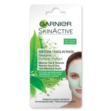 Очищающая маска для лица Garnier Skin Active Матча + Каолин, для комбинированной и жирной кожи, 8 мл
